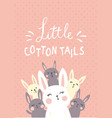 cotton tails vector image vector image