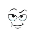 distrusted sad mood suspicious expression isolated vector image