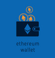 ethereum wallet with coins vector image vector image
