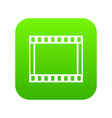 film with frames movie icon digital green vector image vector image