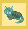 flat shading style icon pet cat vector image vector image