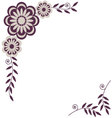 Flower decorative frame element for design vector image