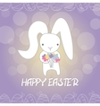 Funny bunny festive character vector image