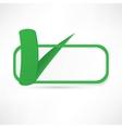 Green check box with check mark vector image vector image