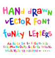 Hand-drawn alphabet funky letters font