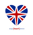 Heart with united kingdom flag