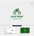 hipster bike electric logo design power vehicle vector image