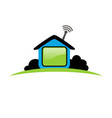 house icon logo design for work from home vector image vector image