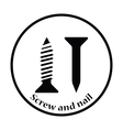 Icon of screw and nail vector image vector image