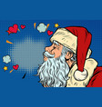 kiss love santa claus character christmas and vector image vector image