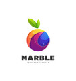logo marble gradient colorful style vector image