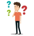 man person thinking icon vector image vector image