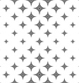Monochromatic seamless star pattern vector image vector image