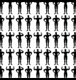 monochrome background pattern with man bodybuilder vector image vector image