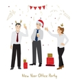 Office party flat style vector image vector image