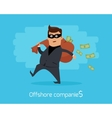Offshore Companies Concept Flat Design vector image vector image
