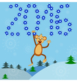 posrcard monkey 2016 vector image vector image