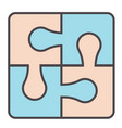 puzzle made different part game for kids vector image