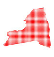 red dot map of new york state vector image
