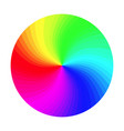 rgb color wheel round classic palette vector image vector image