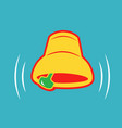 ringing bell icon in bright colors isolated vector image