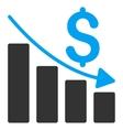Sales Crisis Chart Flat Icon vector image vector image