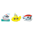 sea or ocean researchers funny characters set vector image vector image
