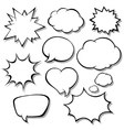 Set of comic bubbles Blank empty speech bubbles vector image vector image