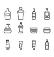 set of icons for bathroom tools in black lines vector image vector image