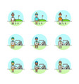 set of multicolor sports icons vector image