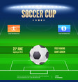 soccer event flyer template place your text and vector image vector image