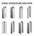 Steel icon vector image vector image