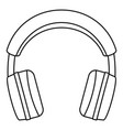 stereo headphones icon outline style vector image vector image