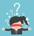 thinking woman with question mark on background vector image vector image