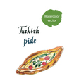 turkish pide vector image vector image