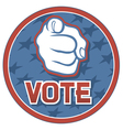 Vote usa badge vector | Price: 1 Credit (USD $1)