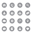 web icon set 1 on gray circle vector image vector image