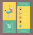 whats there cocktail menu on vector image