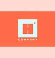 white orange h alphabet letter logo icon vector image vector image