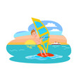windsurfing summer sport vector image vector image