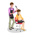 woman in a beauty salon isolated vector image