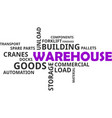 word cloud - warehouse vector image vector image