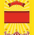 yellow circus background vector image