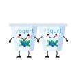 yogurt characters isolated on white vector image vector image