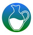 amphora sign white icon in bluish circle vector image