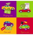 Concept of Buying Selling Rental Car vector image