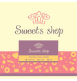 logo business card for a candy store vector image