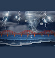 a cyclone and thunderstorm vector image