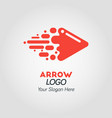 abstract red arrow logo template vector image