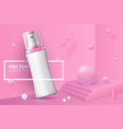 abstract scene with podium and spray bottle vector image vector image